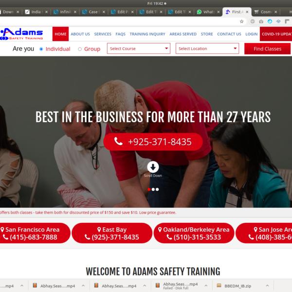 Safety Training Web Development